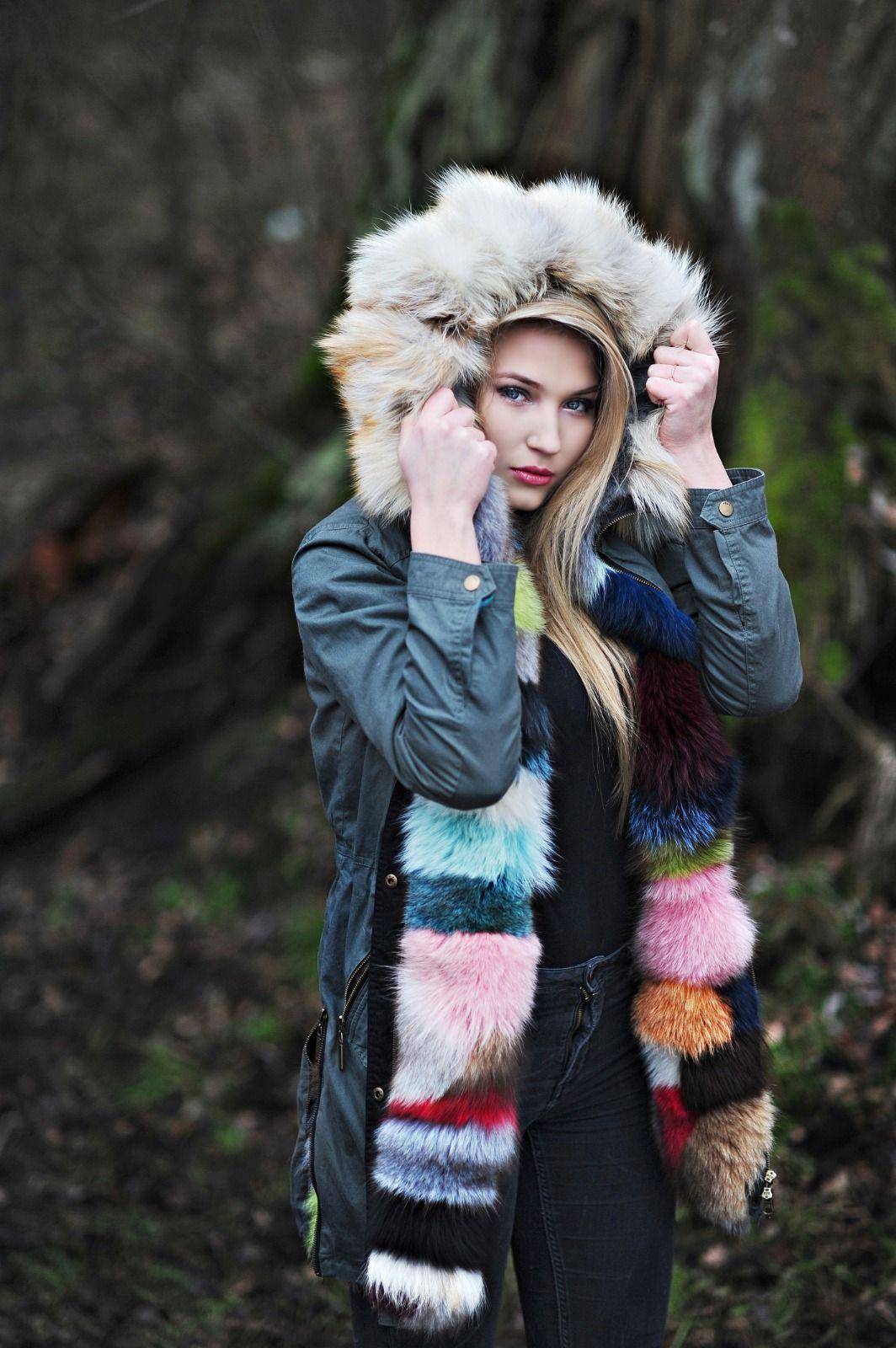 Damskie Parki Z Naturalnym Futrem Fur Parka Winter Hats Parka
