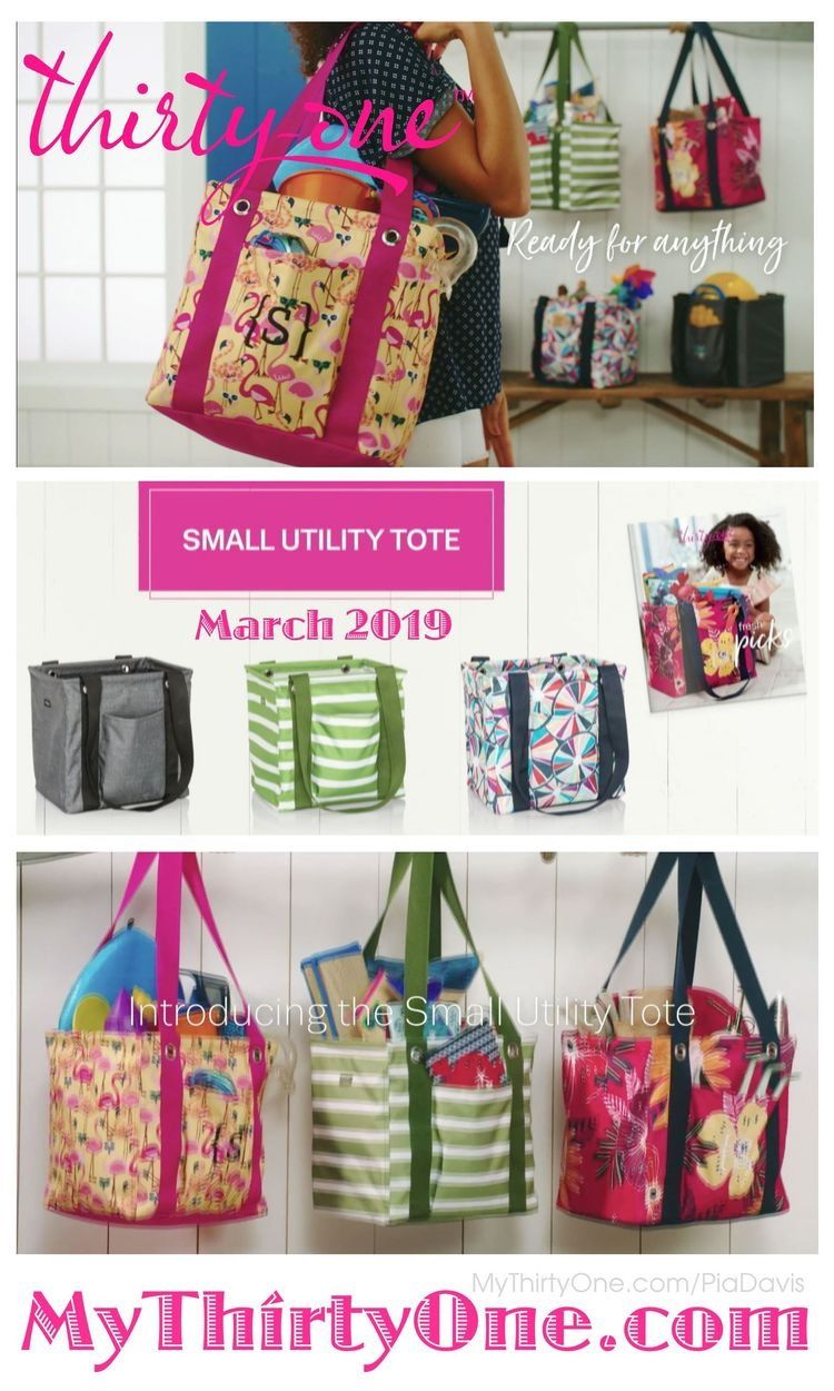 Thirty-One SMALL Utility Tote Let/'s Flamingle  New In Package Flamingo