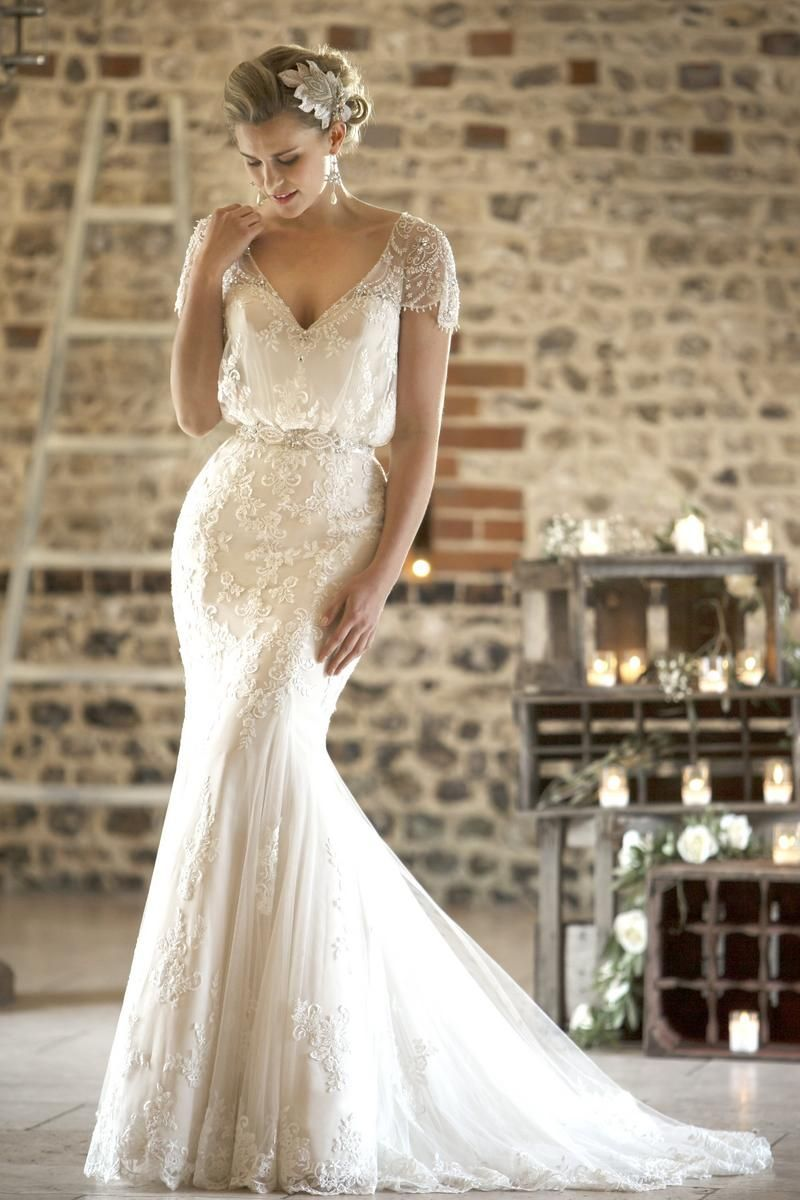 Vintage style wedding dresses lace ukraine