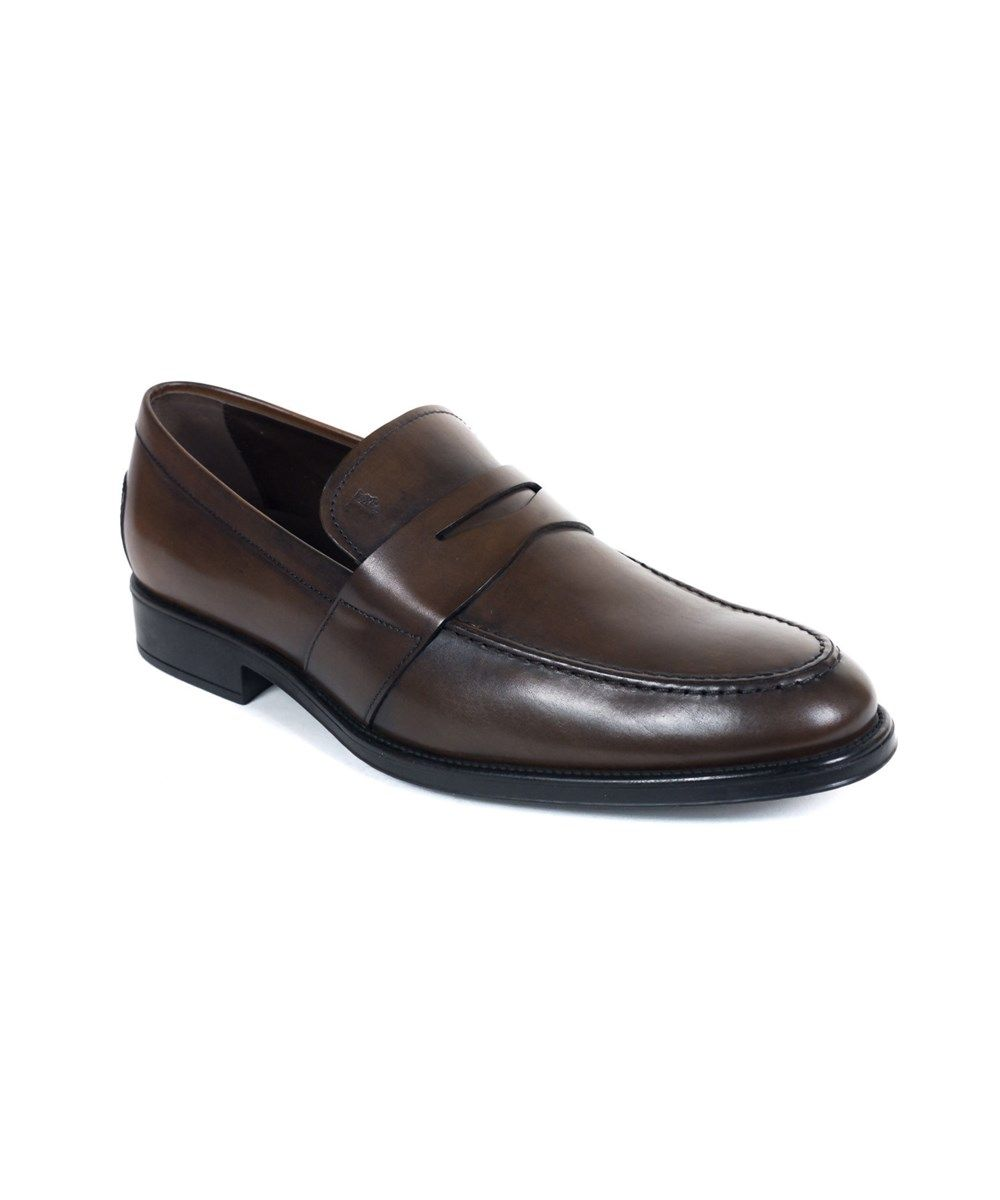 Tod's Mens Size 8.5 Black Leather Penny Loafer Dress Shoe Slip on Made in Italy