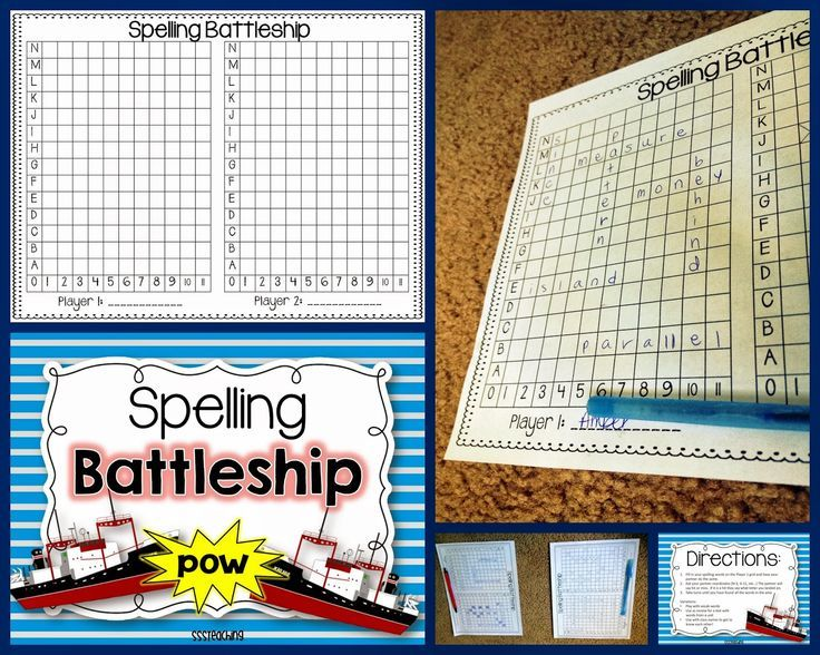 Spelling Battleship FREEBIE Battleship, Students and Student
