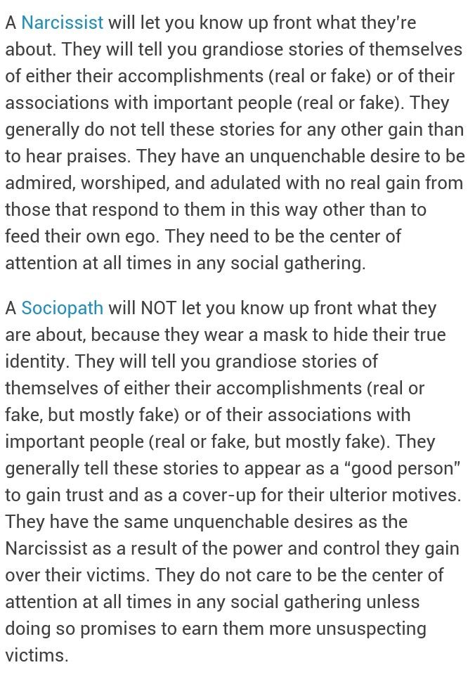 The Difference Between A Narcissist And A Sociopath