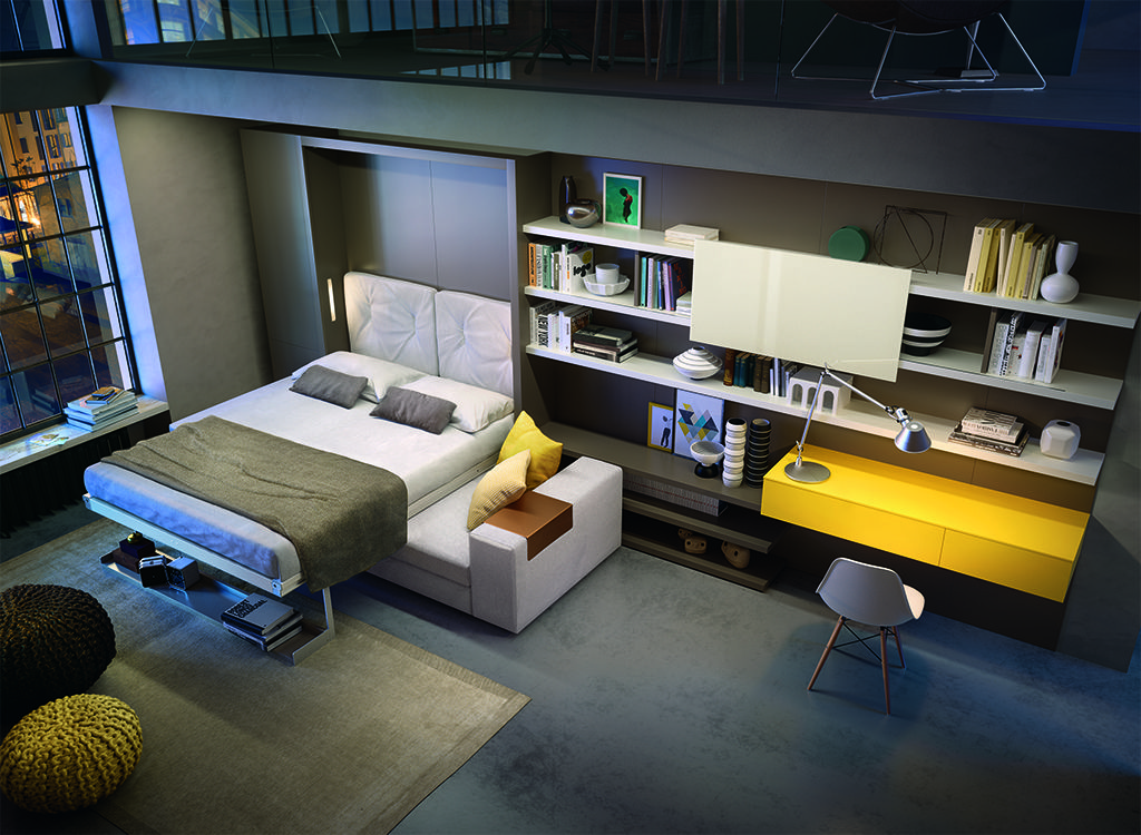 Vertical Queen Wall Bed with Sofa Tango Resource
