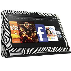Fitted Pleather Case w/ Stand for #Amazon Kindle Fire HD, #Zebra Stripes $19.99 From #DayDeal