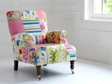 Bon Patchwork Chair, Would Love Something Like This In My Little Sewing Room