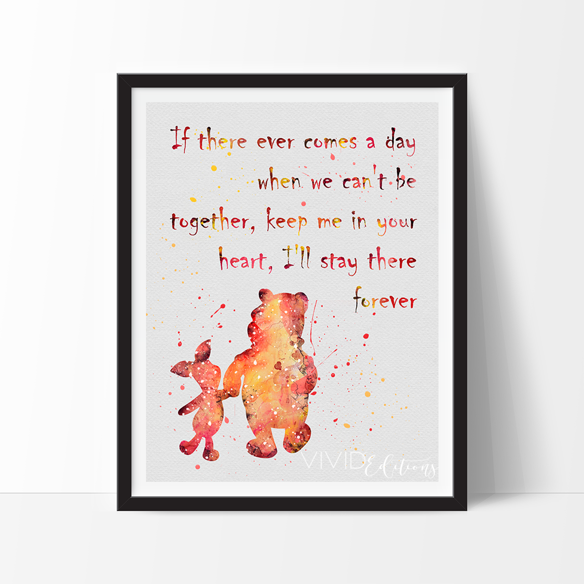Pooh Quote About Saying Goodbye: Winnie The Pooh Quote Watercolor Art Print