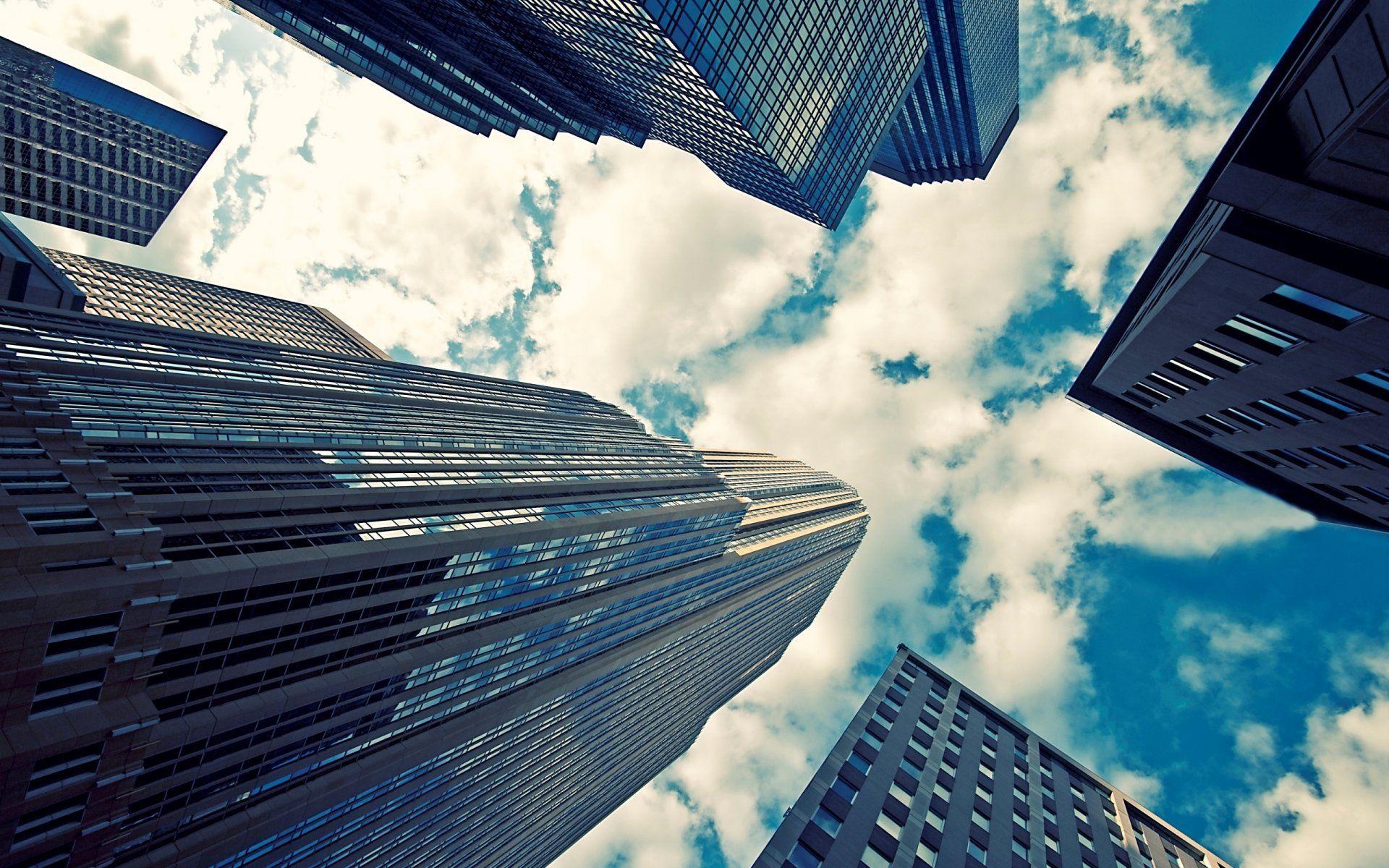 HD HD Skyscraper Glass Buildings Wallpaper Full HD In Windows ...