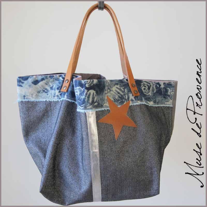 sac cabas fait main en jean et lurex 800 800 sacs cabas pinterest sac cabas cabas. Black Bedroom Furniture Sets. Home Design Ideas