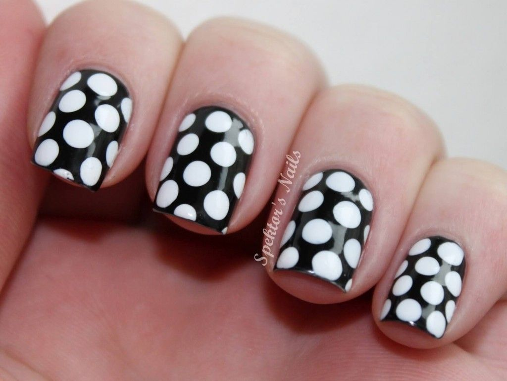 Polka dotted nail art pinterest