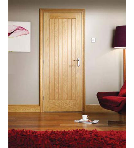 Oak Suffolk Internal Door Oak Skirting Boards And Door Frame