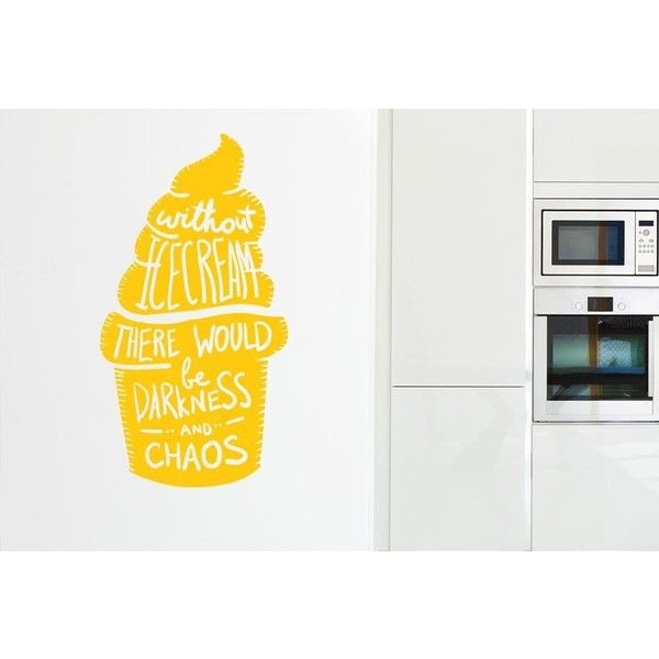 NuCasa Without Ice Cream There Would Be Darkness Wall Sticker ($16 ...