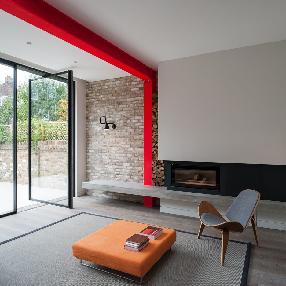 Tigg Coll Architects Integrates Bright-red Steel Frame In