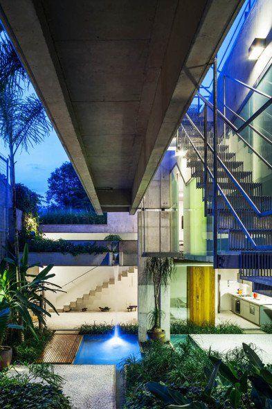 Casa de fin de semana con piscina elevada Casa de fin de