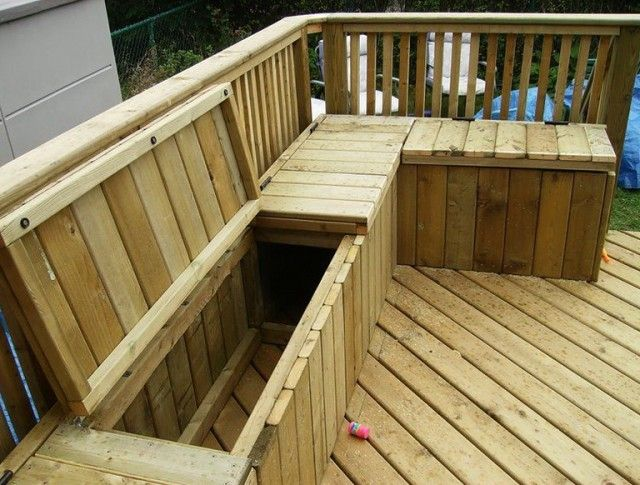 Under Deck Storage Box Deck Storage Pool Deck Furniture Patio