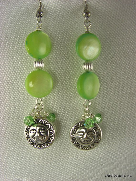 Hey, I found this really awesome Etsy listing at https://www.etsy.com/listing/207724904/lime-shell-night-and-day-dangle-earrings