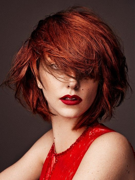 Rodney Wayne Medium Red Hairstyles | Red bob hair, Hair styles, Straight hairstyles
