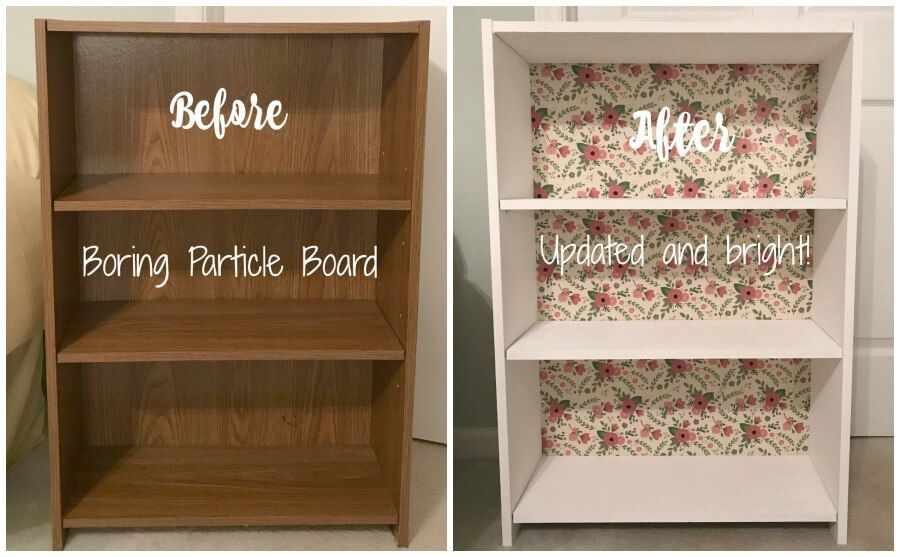 How To Update Used Particle Board Shelves The Easy Way Painting Particle Board Furniture Repurposed Furniture Diy Diy Furniture
