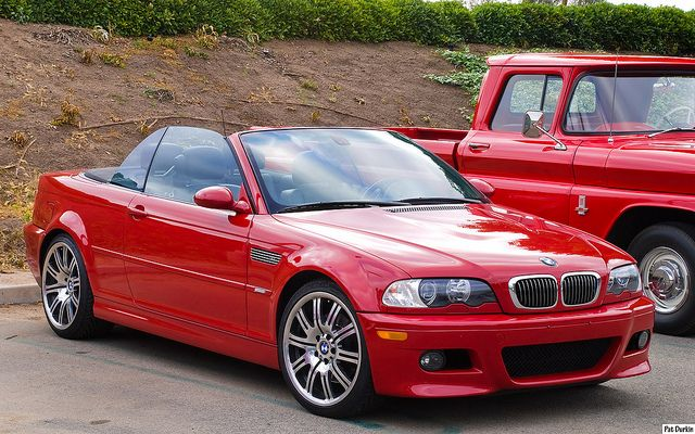 2004 Bmw M3 Convertible With Top Down Red Fvr Bmw Bmw M3 Convertible Bmw M3