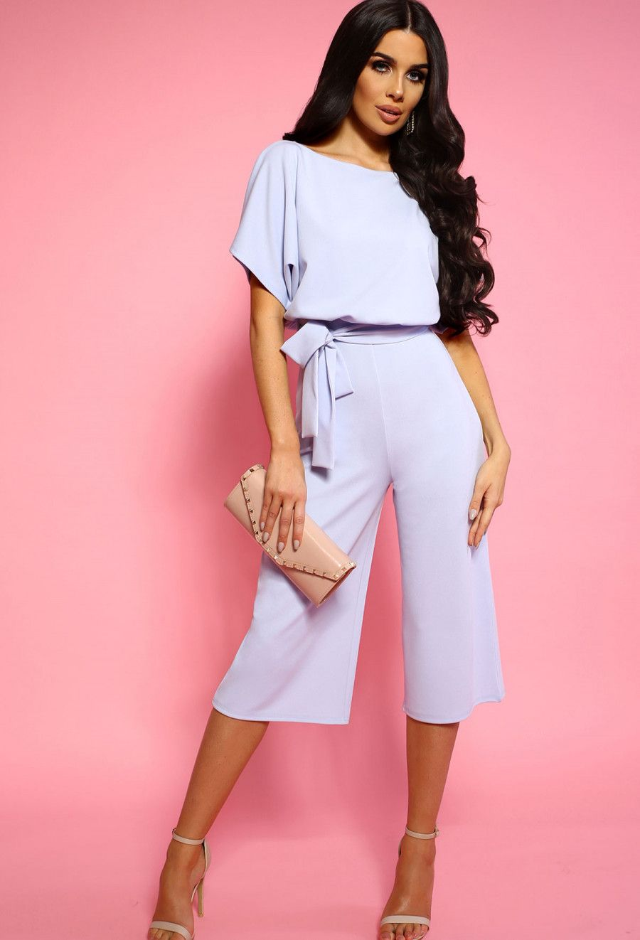 f8a7c97258 Always Chic Baby Blue Belted Culotte Jumpsuit