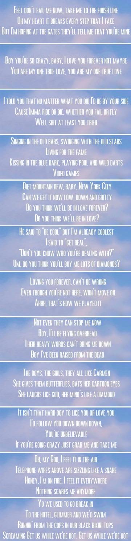 Lana Del Rey #LDR [song lyrics from Born To Die album] | Lana Del ...