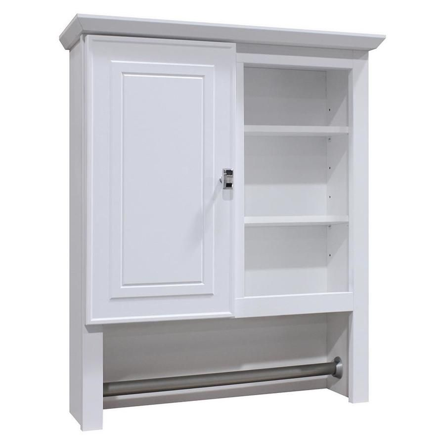 shop style selections 24 5in w x 29in h x 7 66in d white on lowe s laundry room storage cabinets id=22353