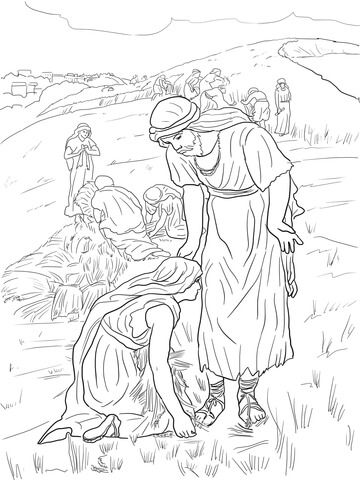 Ruth and Boaz Coloring page | Ruth & Naomi | Pinterest | Printable ...