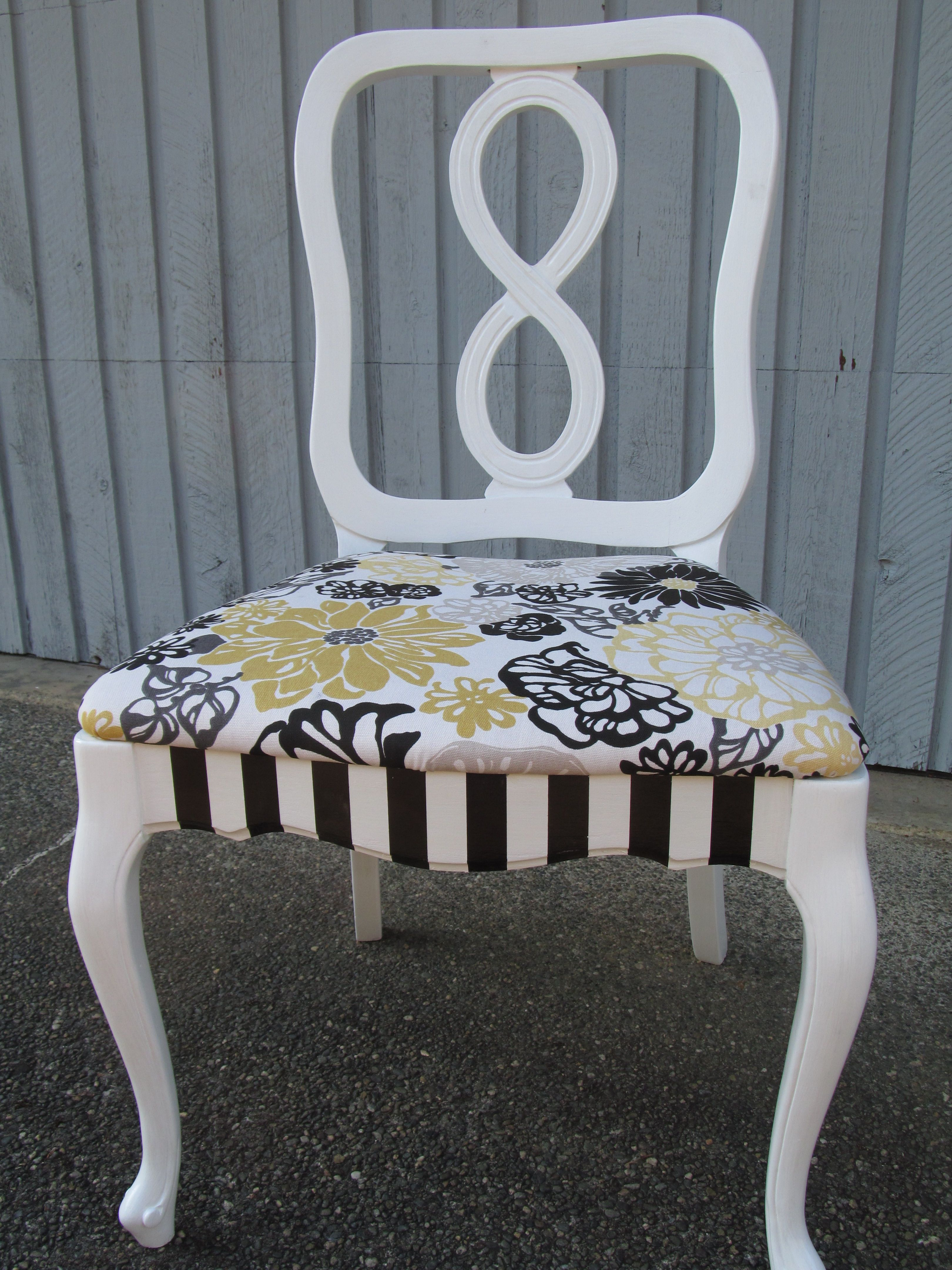 Upcycled Furniture Vintage French Provincial Chair