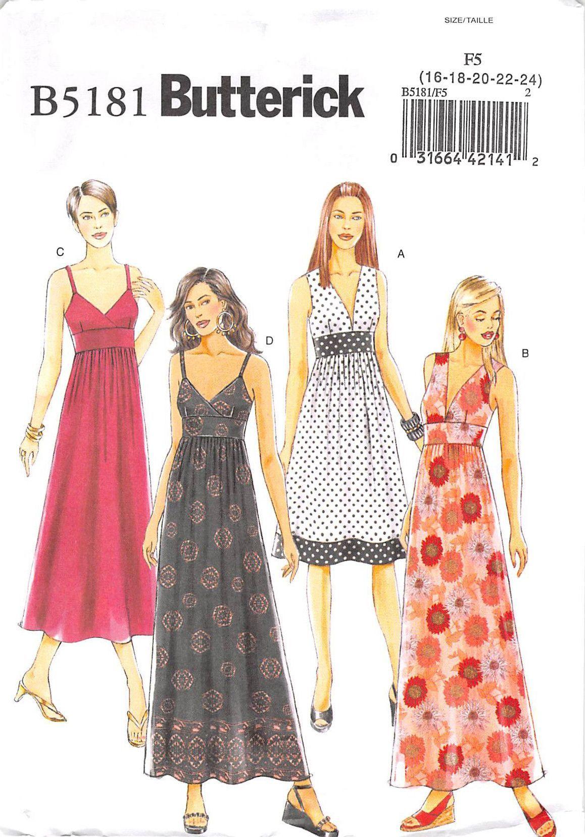 BUTTERICK 5181 - UNCUT - MISSES DRESS | Sew Dressing Up | Pinterest ...