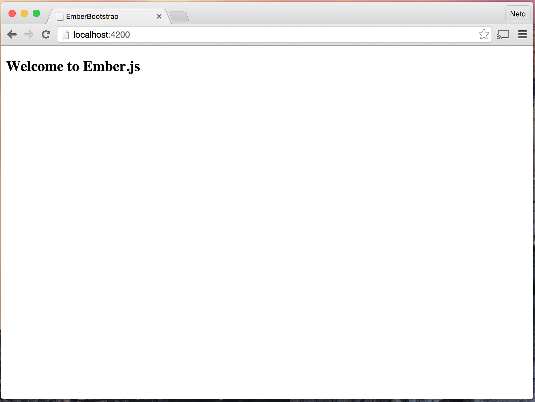 EmberJS Welcome page