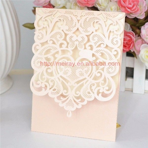 Cheap Peach Wedding Invitations Buy Quality Laser Cut Directly From China Invitation Design Suppliers