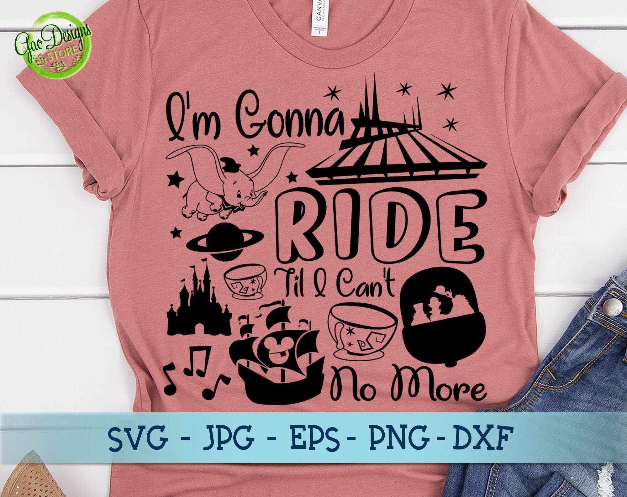 Disney Park Shirt Matching Disney Family Shirts racerback tank Disney Shirts |Disney Rides Shirt. I/'m gonna ride til I can/'t no more