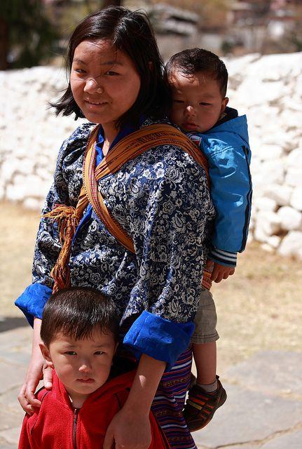 At Paro Festival Paro Bhutan Bhutanese Clothing Mother And Child Reunion Bhutan