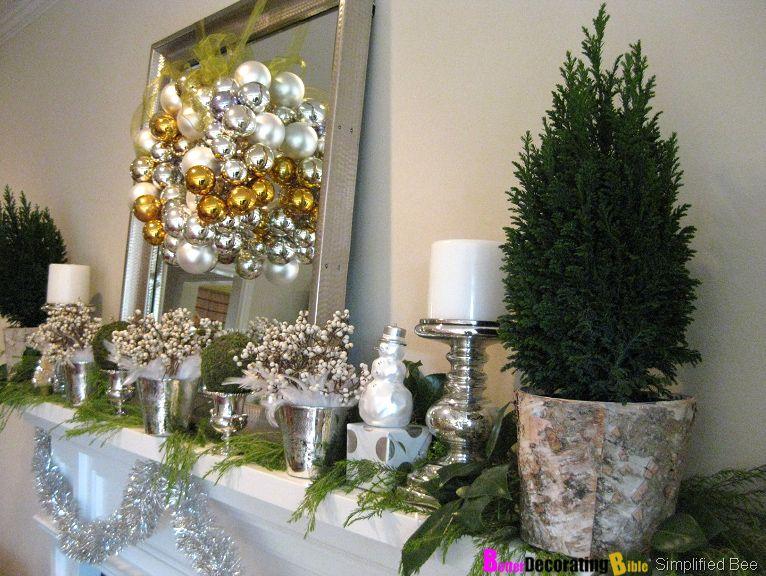 DIY Friday – Easy Christmas Mantel Decorating