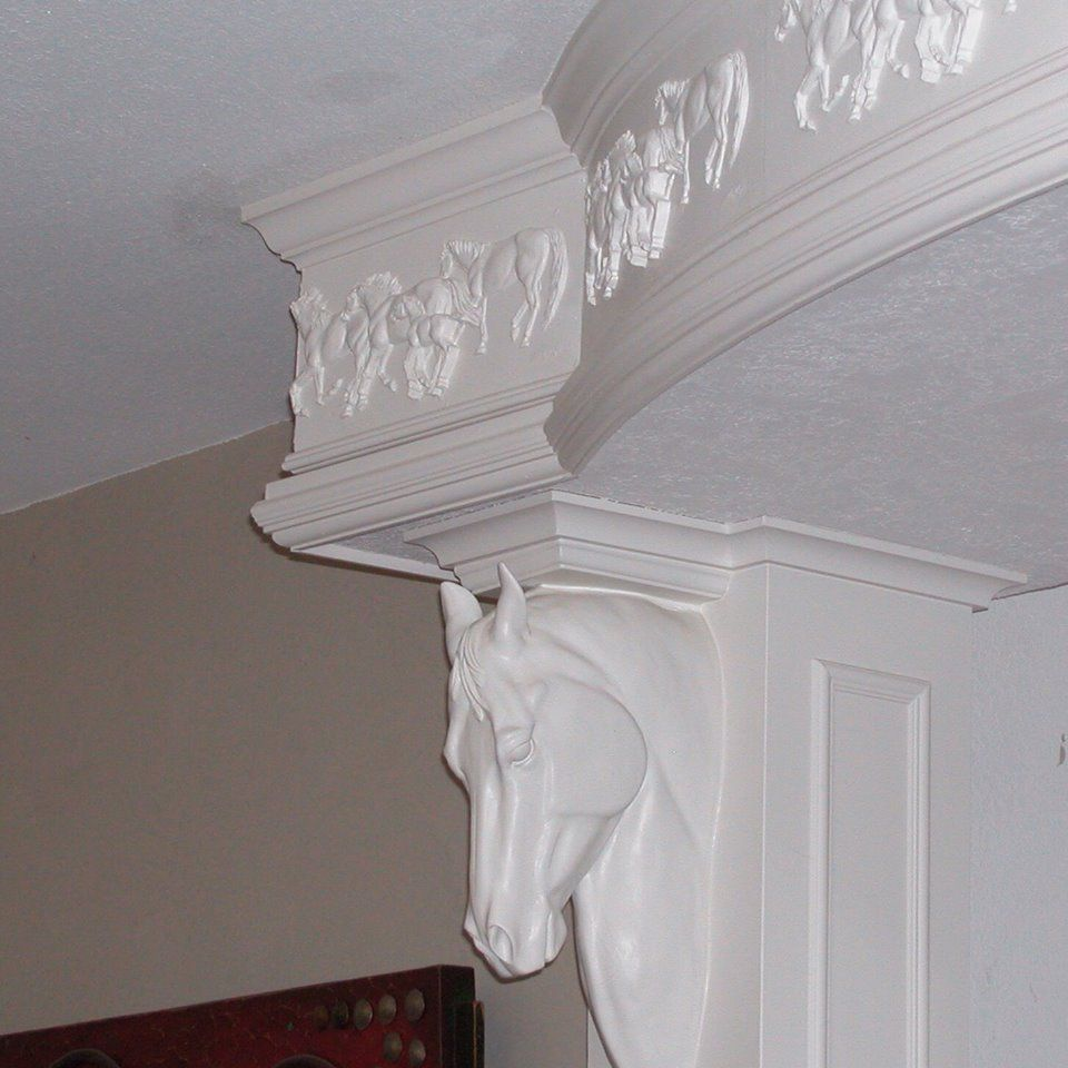 Equine Home Decor: Horse Crown Molding And Corbel