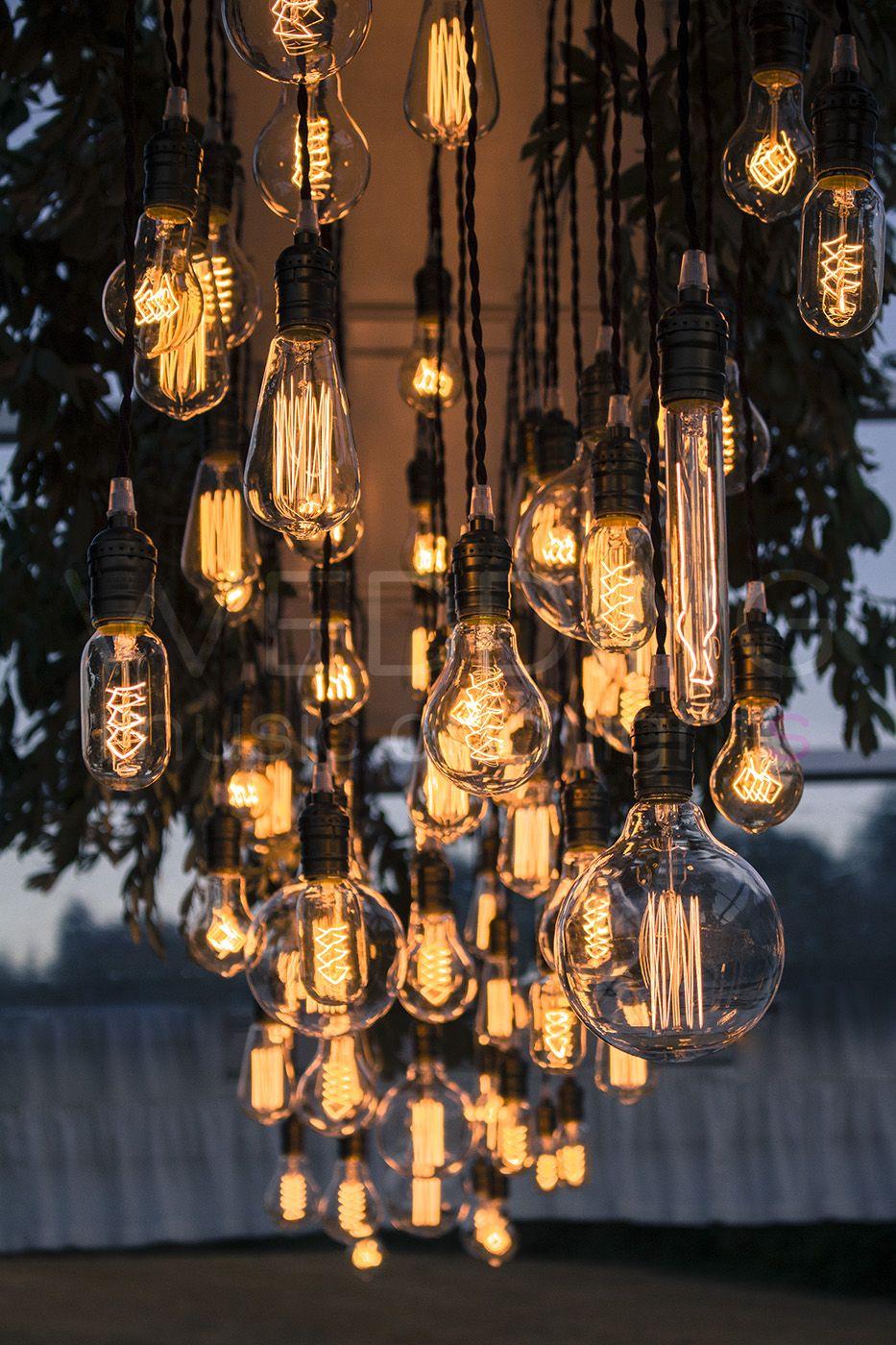 Vintage Edison Bulbs Lamp Vintage Chandeliers Weddinglighting