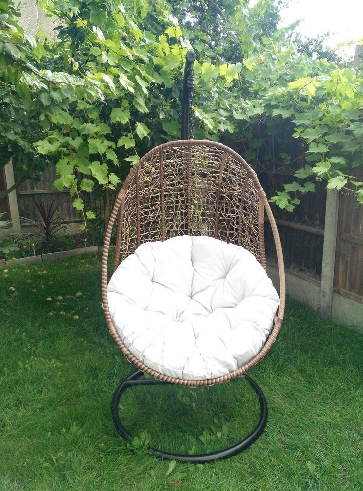 Premium Rattan Swing Patio Garden Weave Hanging Egg Chair