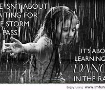 I just love walking in the rain.