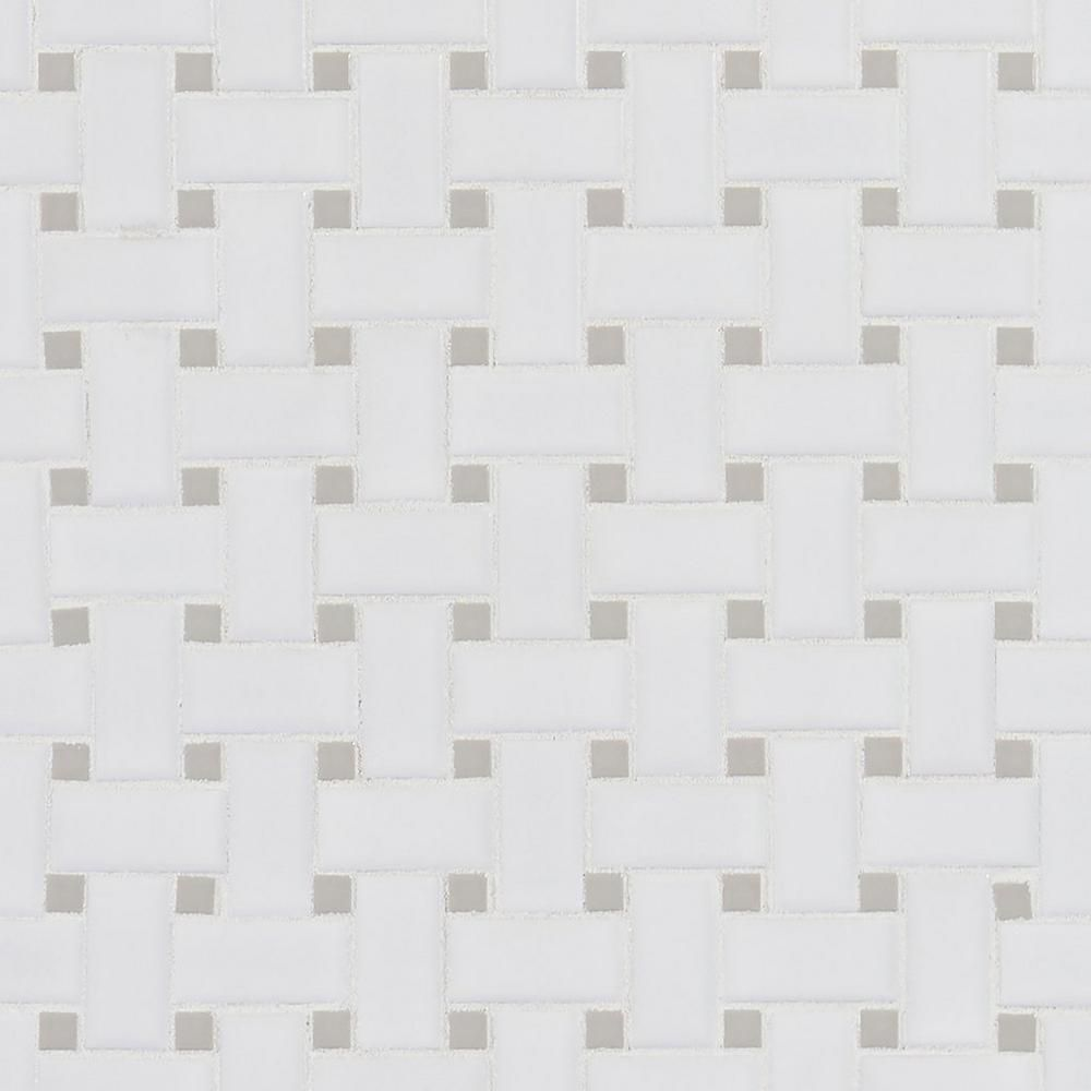 Matte Gray Dot Basket Weave Porcelain