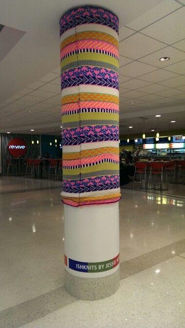 Knit bomb! Terminal F