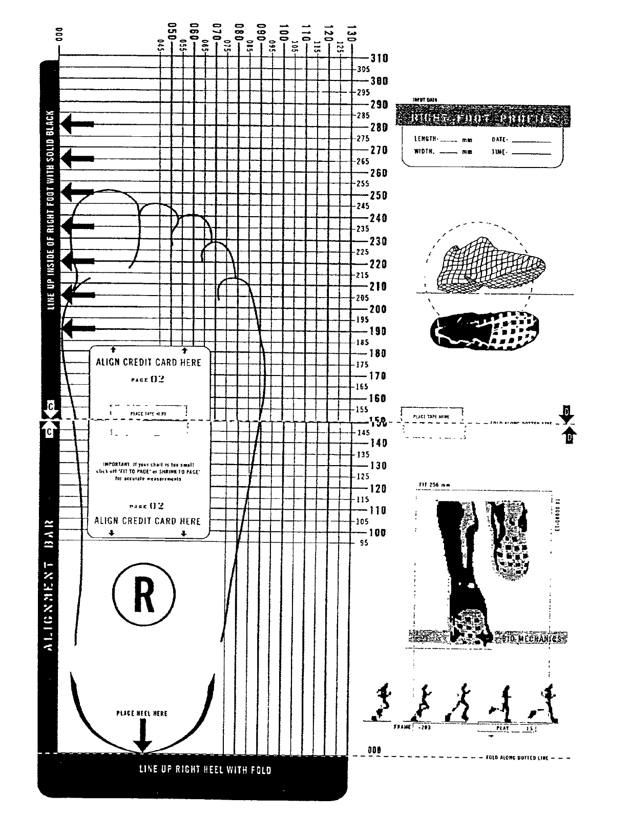 printable shoe size chart activity shelter