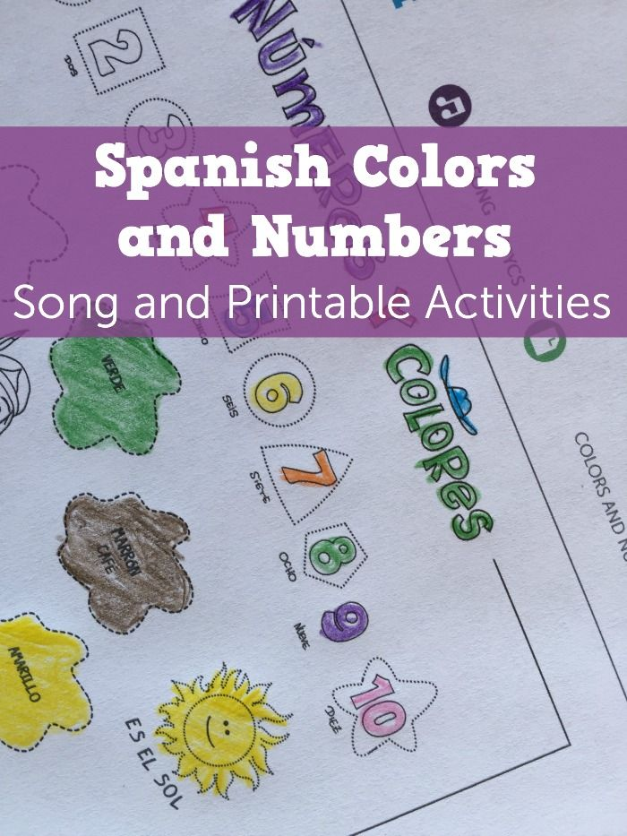 Lyric songs with numbers in lyrics : Spanish colors and Spanish numbers in a upbeat song for kids ...