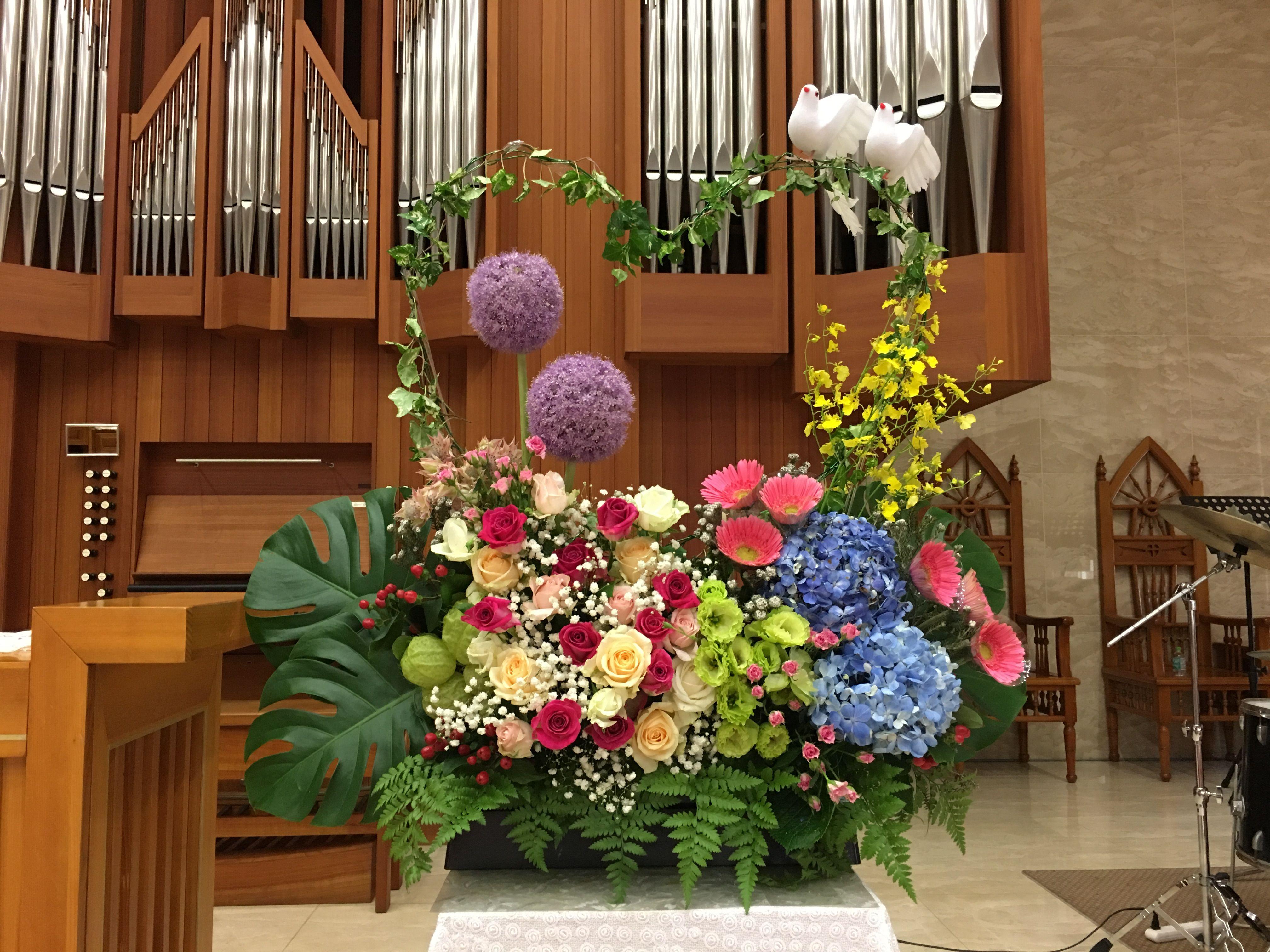 2019.06.29 婚禮插花 02 Wedding Flower arrangements for the