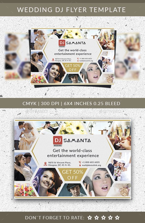 Wedding DJ Flyer Template Flyer template, Photography flyer and - wedding flyer