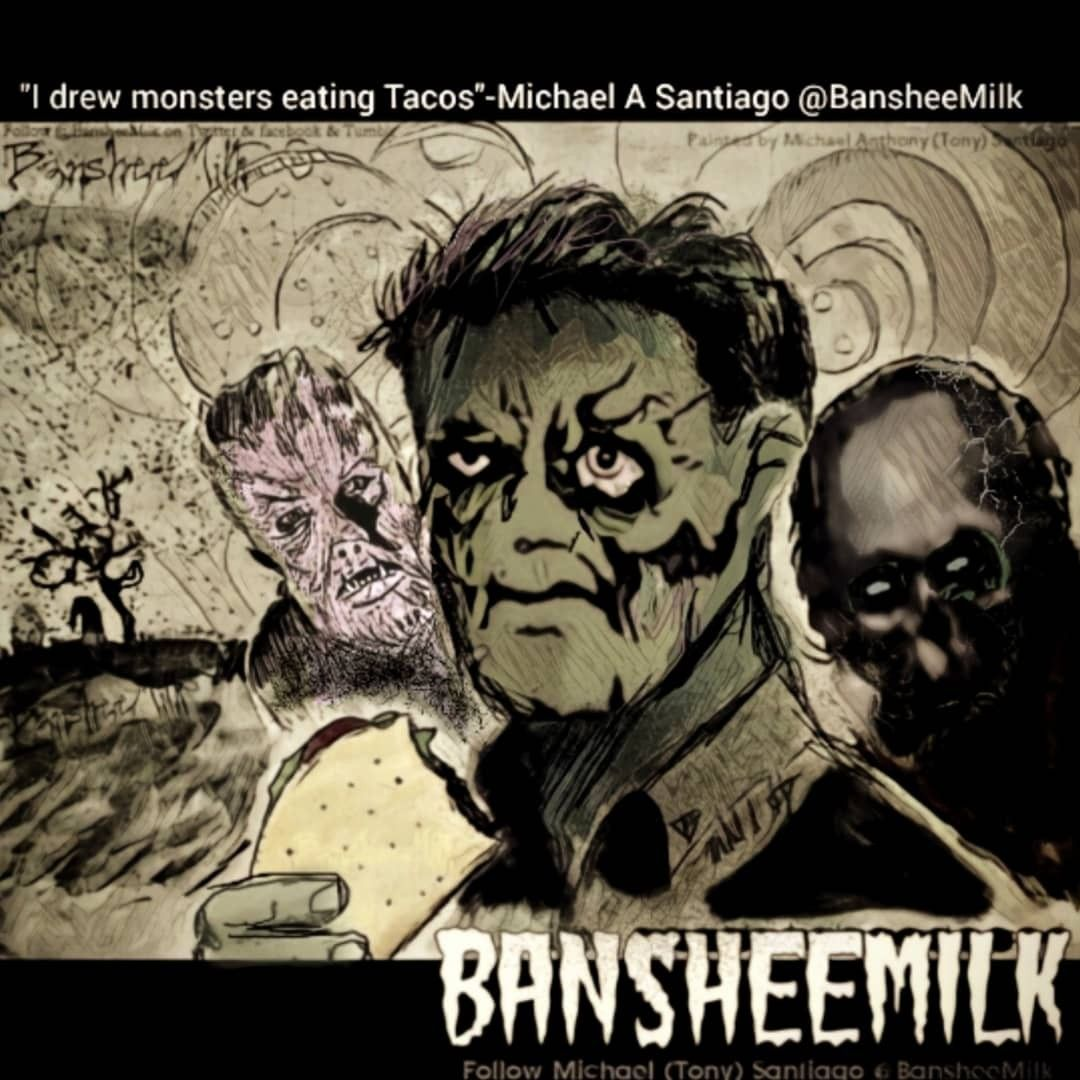 Monsters And Shit Bansheemilk In 2020 Eating Tacos People Eating Monster