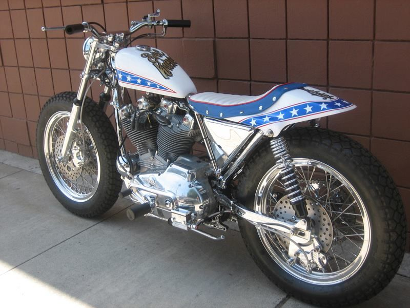 """1972 Harley Davidson Xr750 Evel Knievel Stunt Bike: """"Anybody Can Jump A Motorcycle. The Trouble Begins When"""