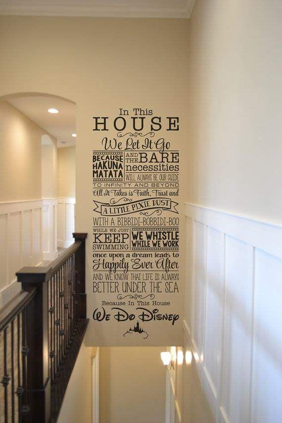 Amazing Disney Home Decor Ideas Part - 2: In This House Disney Wall Lettering Sticker Decal Home Decor Walt Disney We  Do Disney // Home Decoration Ideas