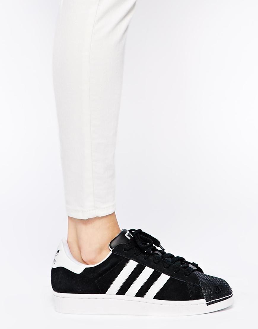 Adidas | Zapatillas de deporte negras con puntera Superstar II de Adidas en ASOS