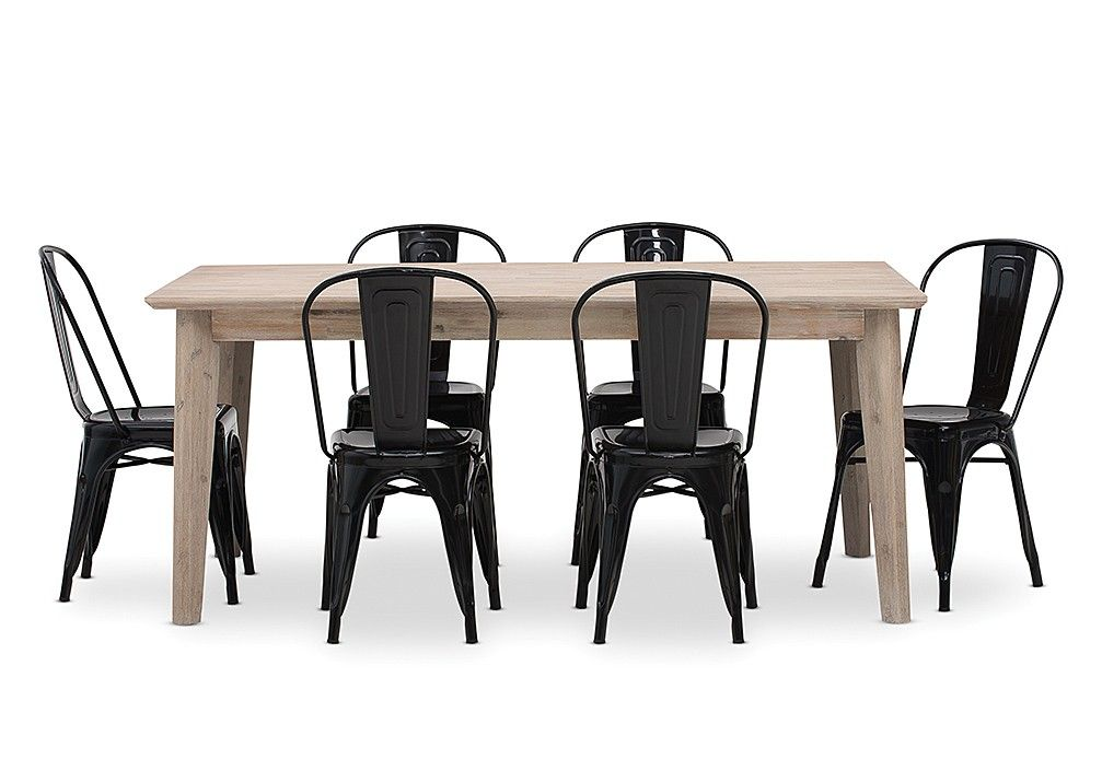 Portland 7 Piece Dining Suite With Rocket Chairs