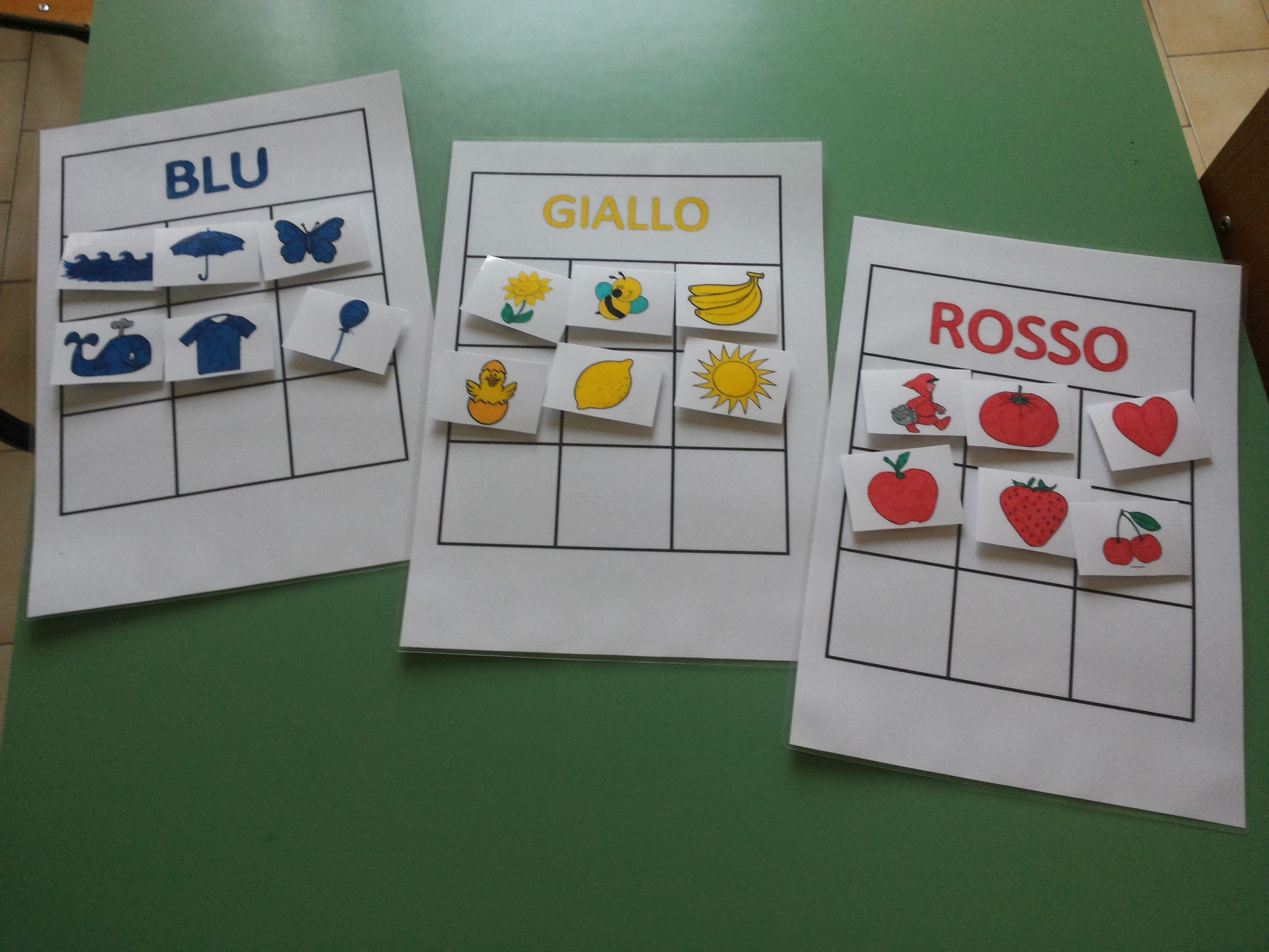 Discriminazione dei colori primari attivit con i for Tabella per mescolare i colori