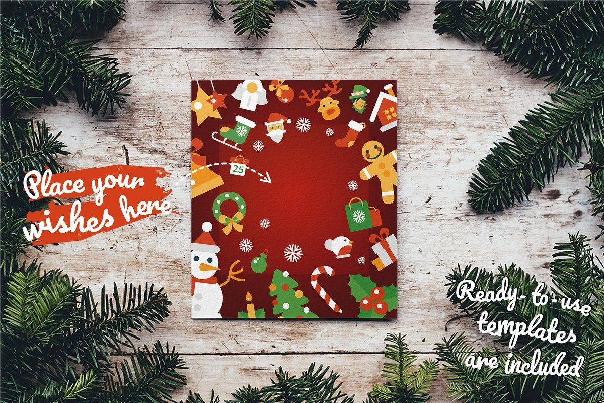 Ad Christmas 25 Icons Set + Bonuses by Boyko Pictures on